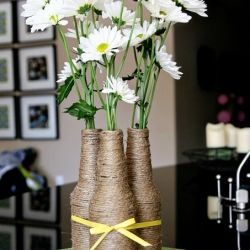 Turn An Old Glass Bottle Into A Pretty Flower Vase Omg I Did