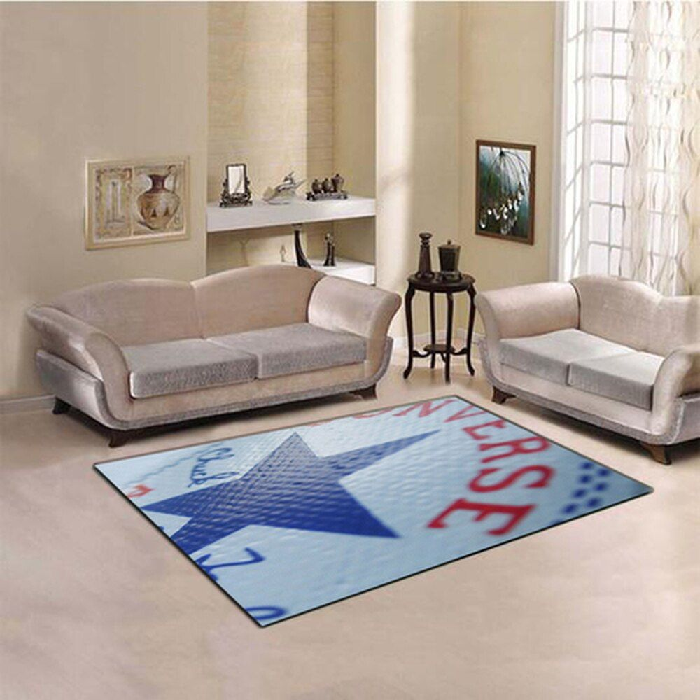 Converse Texture Logo Chuck Taylor Living Room Carpet Rug Living Room Carpet Rugs In Living Room Room Carpet