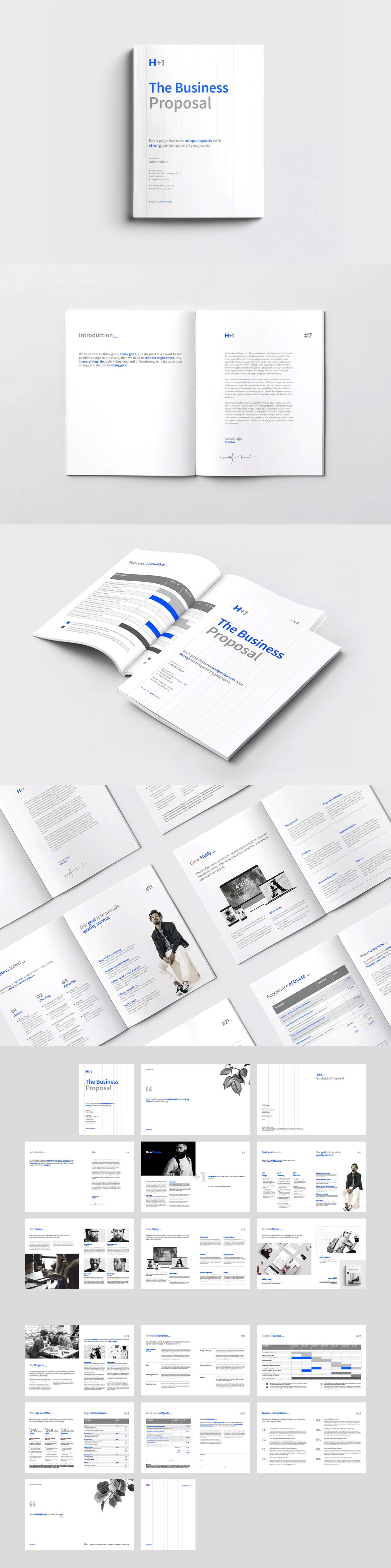 Business Proposal Template Indesign Indd A4 Us Letter Size