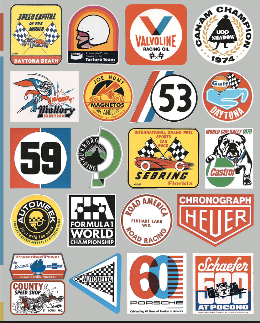 Pin by Craig on Porsche Rally Racing stickers, Retro
