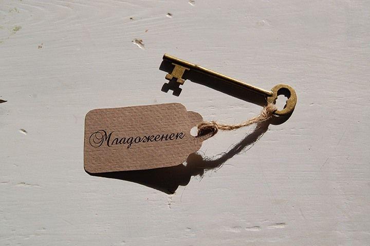 Vintage Ключе Тейбъл Картичка с Името на Всеки Гост на Цена 2,30 лв