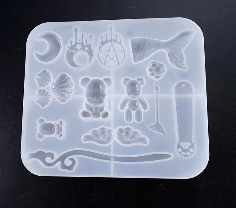Happy Birthday Silicone Mold Resin Epoxy Casting Making DIY Soap Cake Jewelry