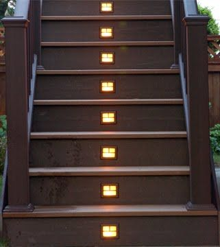 Delightful Deck Step Lighting   Made Easy With Outdoor Solar Lights U003cu003c Deck Designs  Ideas