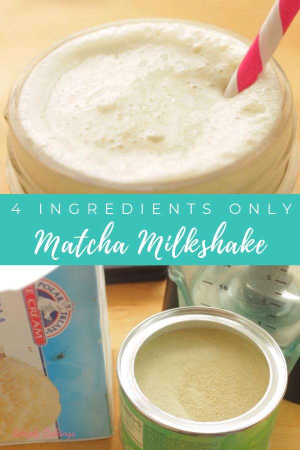 Photo of Matcha Milkshake – 4 Ingredients Only – Simply Bakings