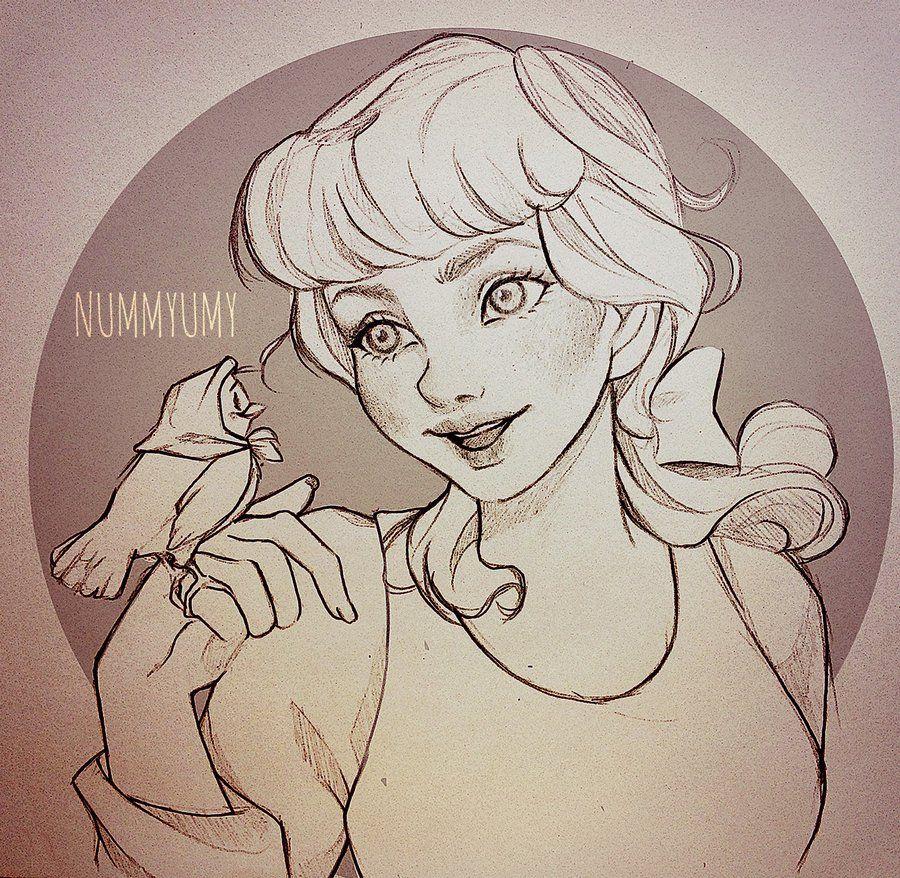 Cinderella Pencil Version by Nummyumy.deviantart.com on ...