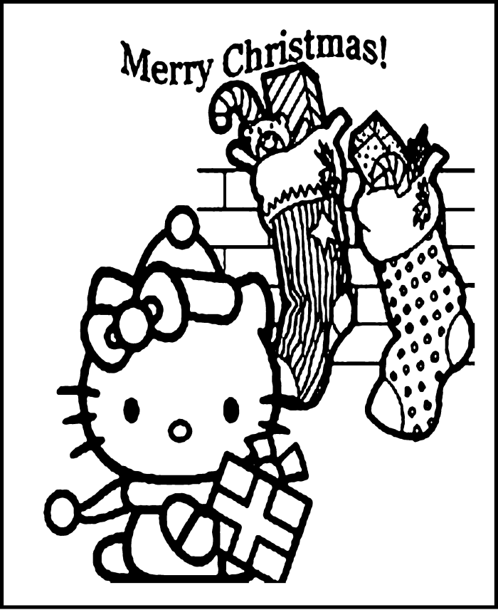 Hello Kitty Merry Christmas Coloring Pages - Christmas Coloring ...