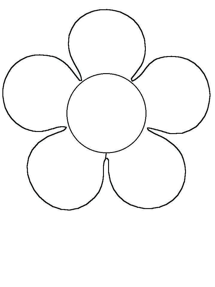 Coloring Flowers For Kids Print Page And Book Flower Simple Shapes Shape Coloring Pages Flower Coloring Pages Flower Template