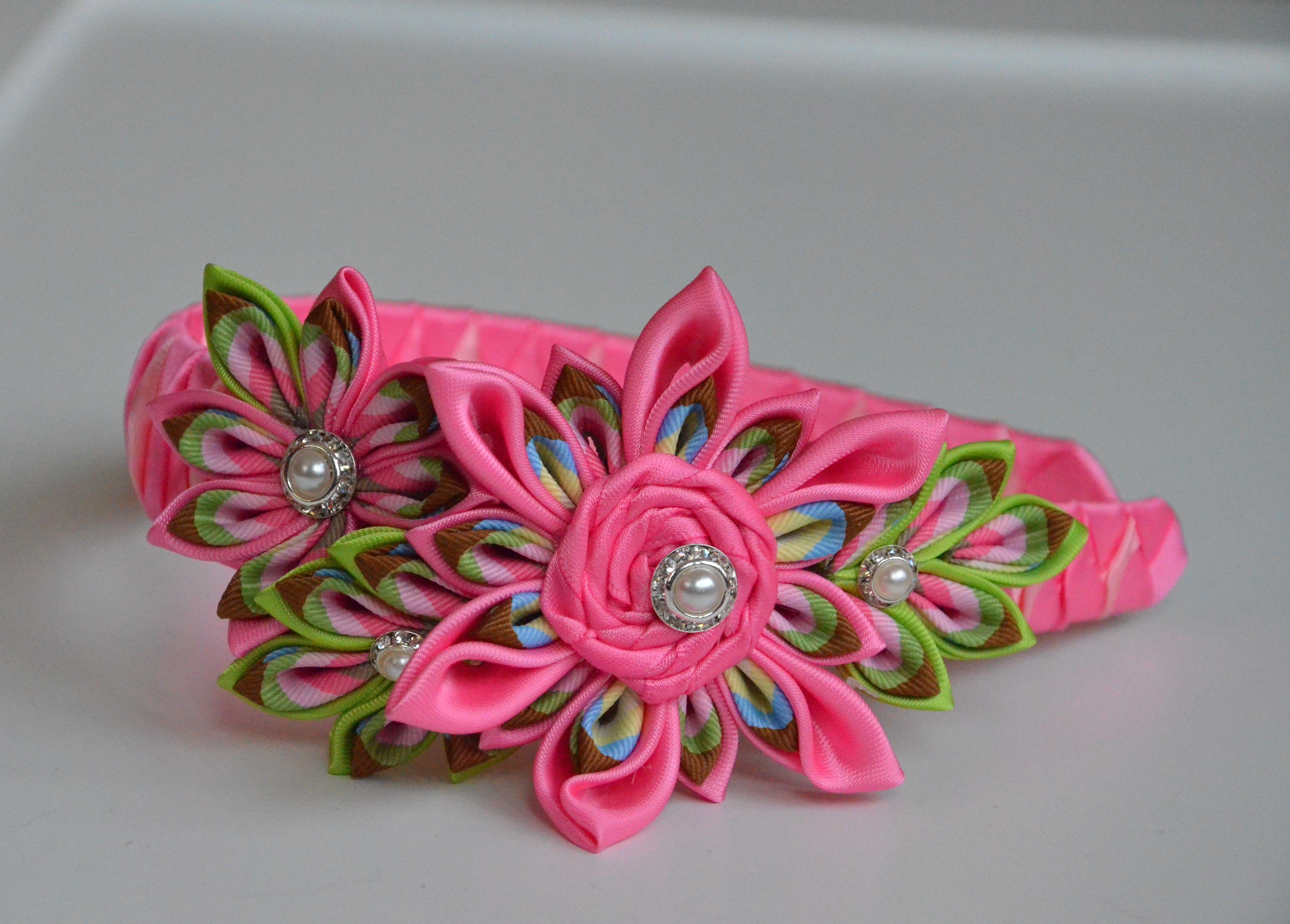 Beautiful baby hair accessories - Diy Hair Accessories Kanzashi Headband Beautiful