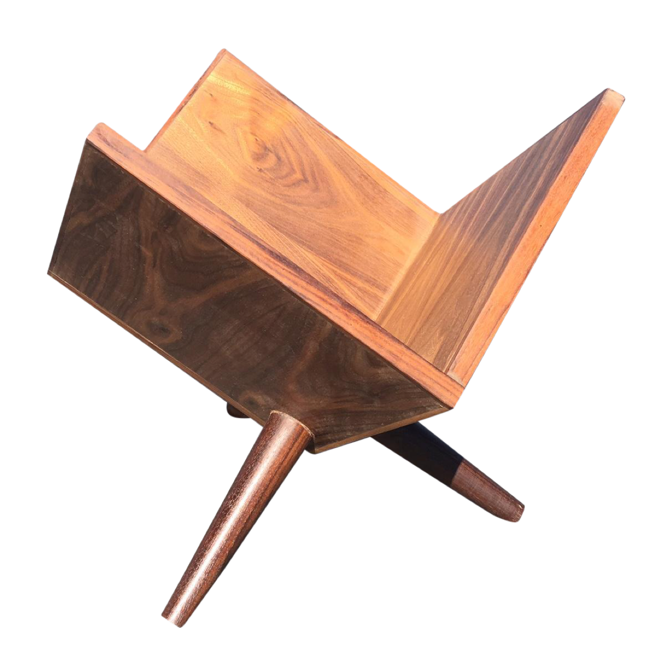 mid century custom vinyl record holder home pinterest. Black Bedroom Furniture Sets. Home Design Ideas