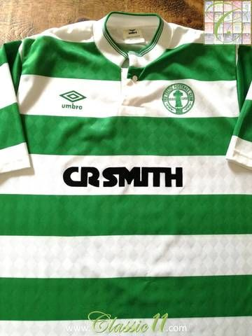 timeless design 8b4c0 11cb5 Official Umbro Celtic home football shirt from the 1987/1988 ...