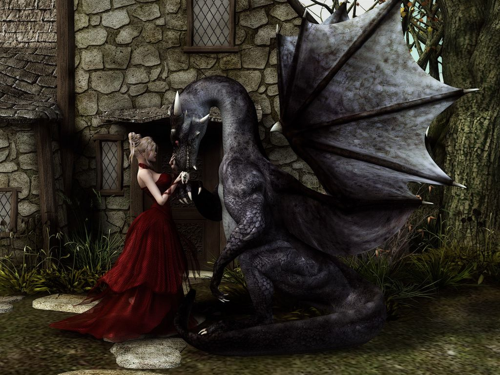 pictures dragons with women free woman and dragon wallpaper