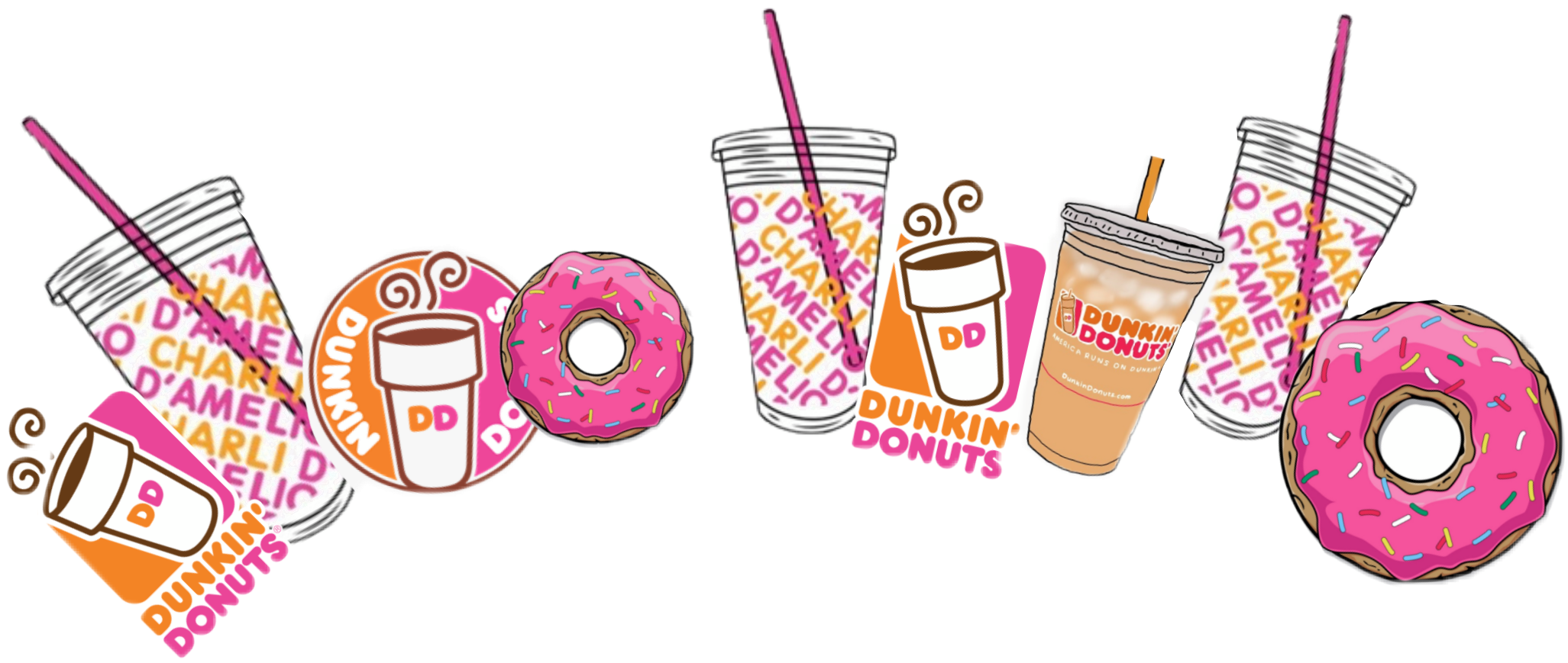 Dunkin Donuts Dunkindonuts Dd Dunkincrown Charli Damelio Freetoedit Preppy Stickers Cute Stickers Funny Wallpapers