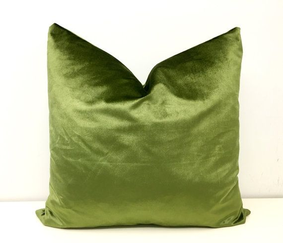 Verde oliva velluto copertura del cuscino, cuscini, cuscino di velluto, cuscini verdi, verde cuscino, cuscini decorativi, cuscini di velluto verde