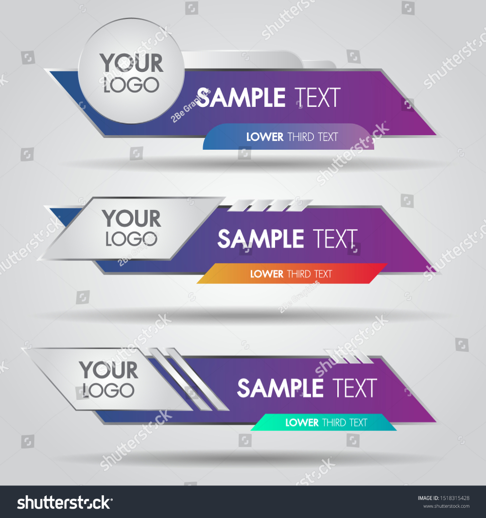 Lower Third White Colorful Design Template Stock Vector Royalty Free 1518315428 Design Template Lower Thirds Graphic Design Background Templates