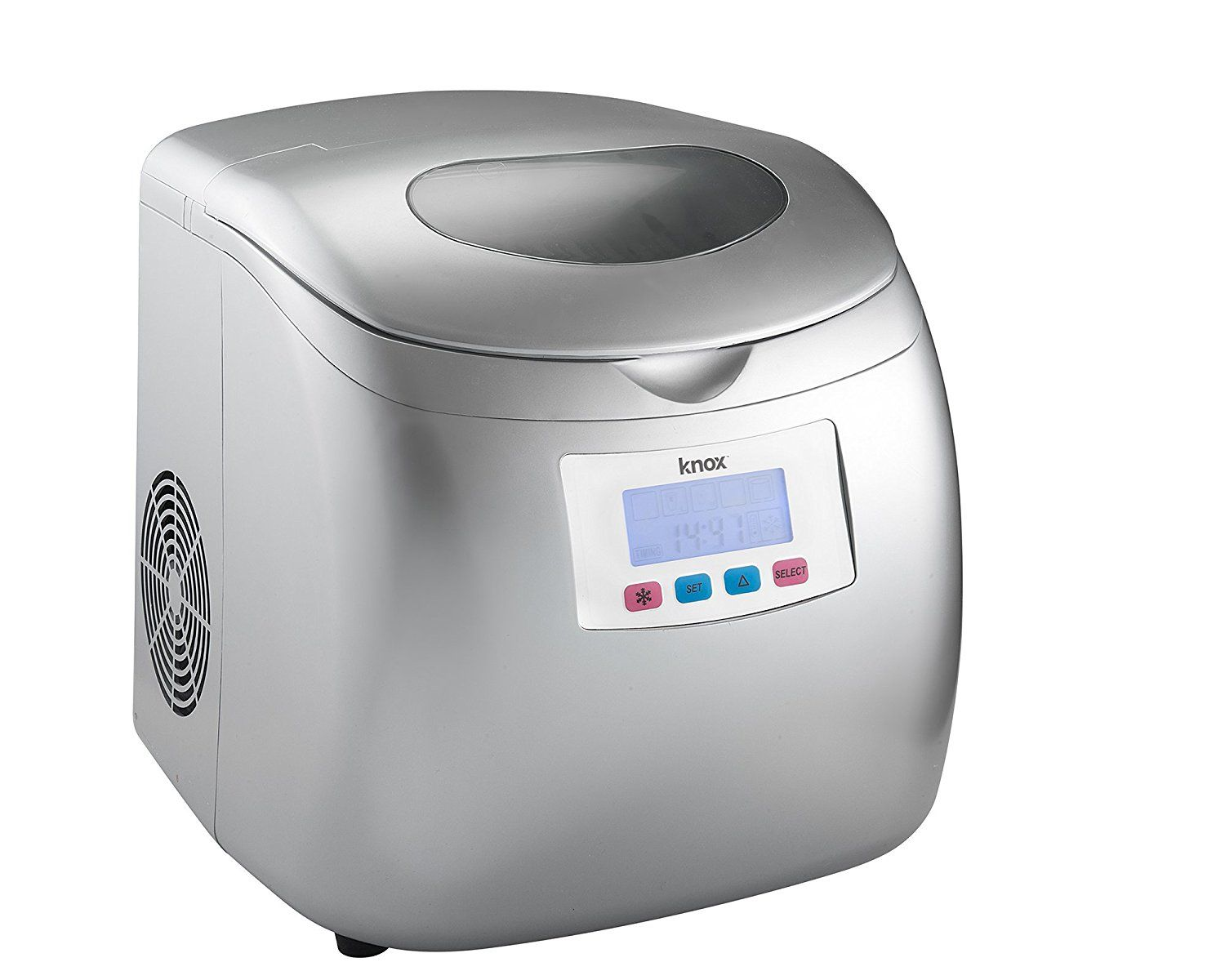 Knox Portable Compact Ice Maker W Lcd Display Silver 2 8 Liter
