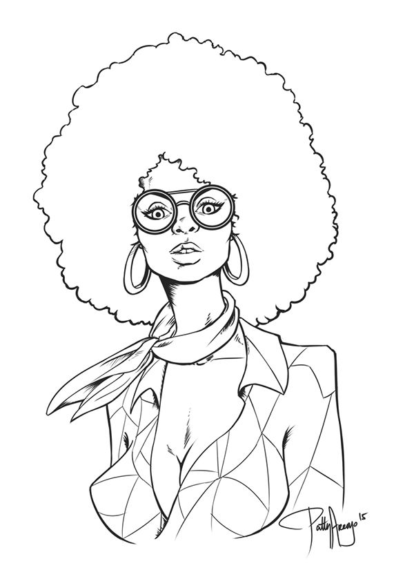 Afro Chick 70 39 s inspired artwork