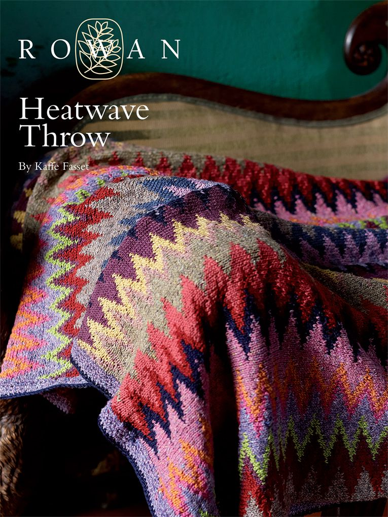Heatwave Throw by Rowan - free | Knitting | Pinterest | Rowan, Pdf ...