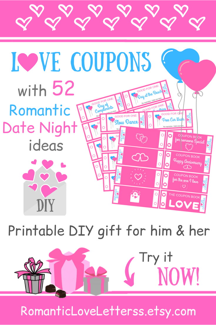 Date Night Gift Coupon Book First Anniversary Gift For