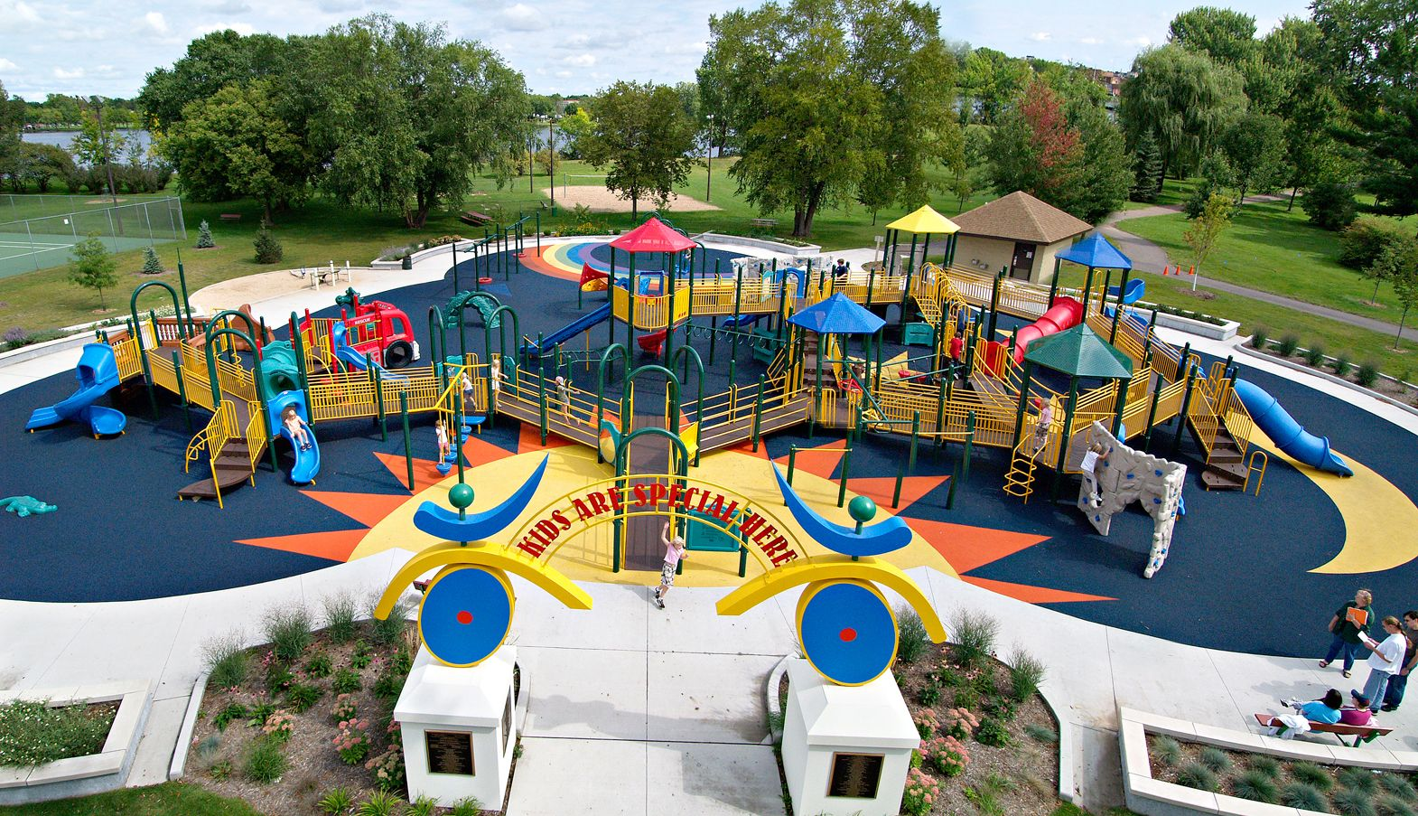 All Inclusive Playgrounds Allow Everyone To Get Out And