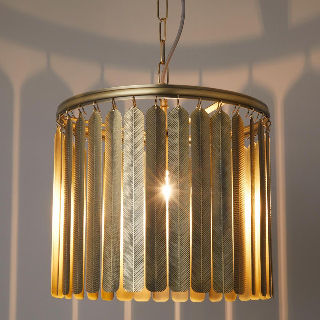 John Lewis Partners Indriya Ceiling Light Antique Brass