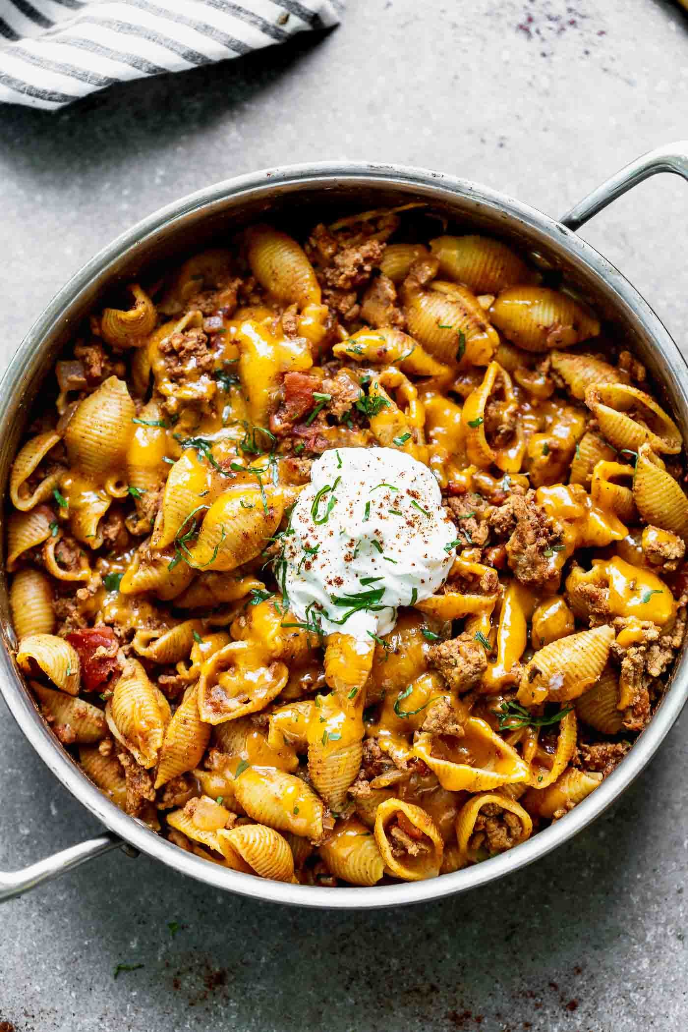 One Pot Turkey Mexican Pasta - Cooking for Keeps
