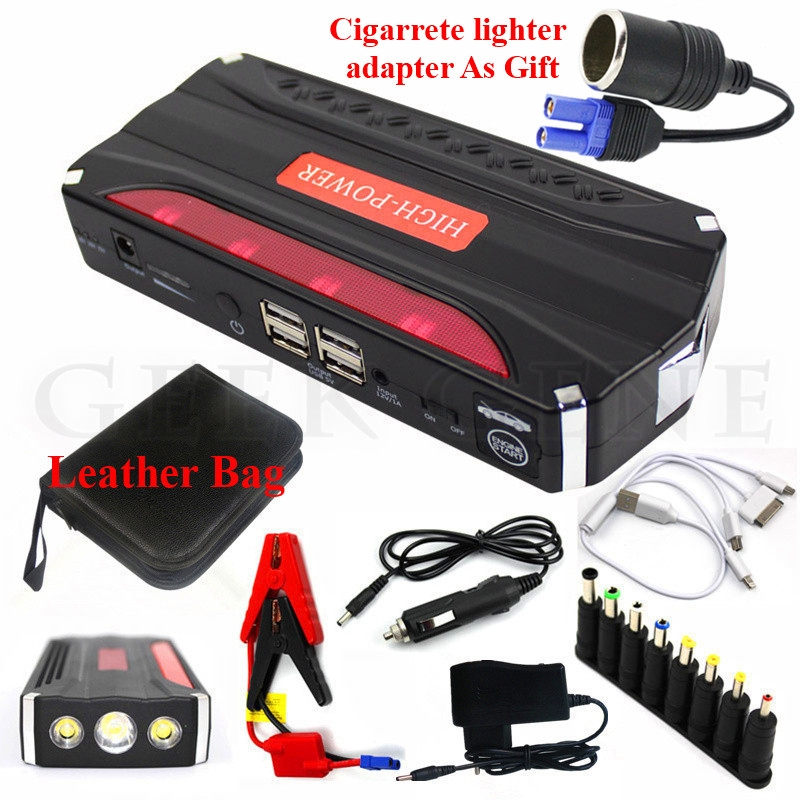 36 85 Watch Now 2017 Car Jump Starter Portable 12v Starting Device 4usb Power Bank Mobile 600a Car Charger For C Charger Car Booster Car Power Bank Charger