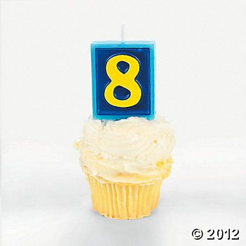 "Number ""8"" Candle 