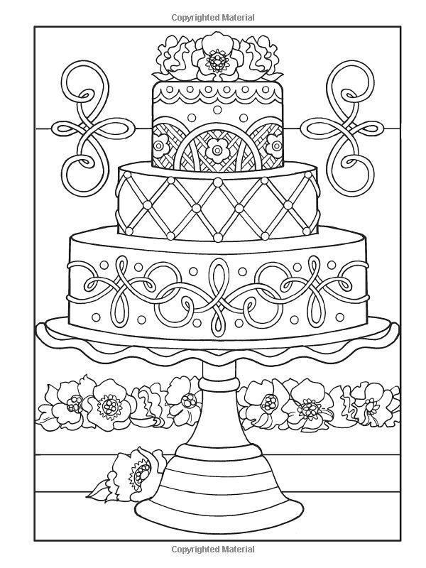 Colouring Book Cakes And Tea Pinterest Google Search Wedding Coloring Pages Printable Coloring Pages Cupcake Coloring Pages