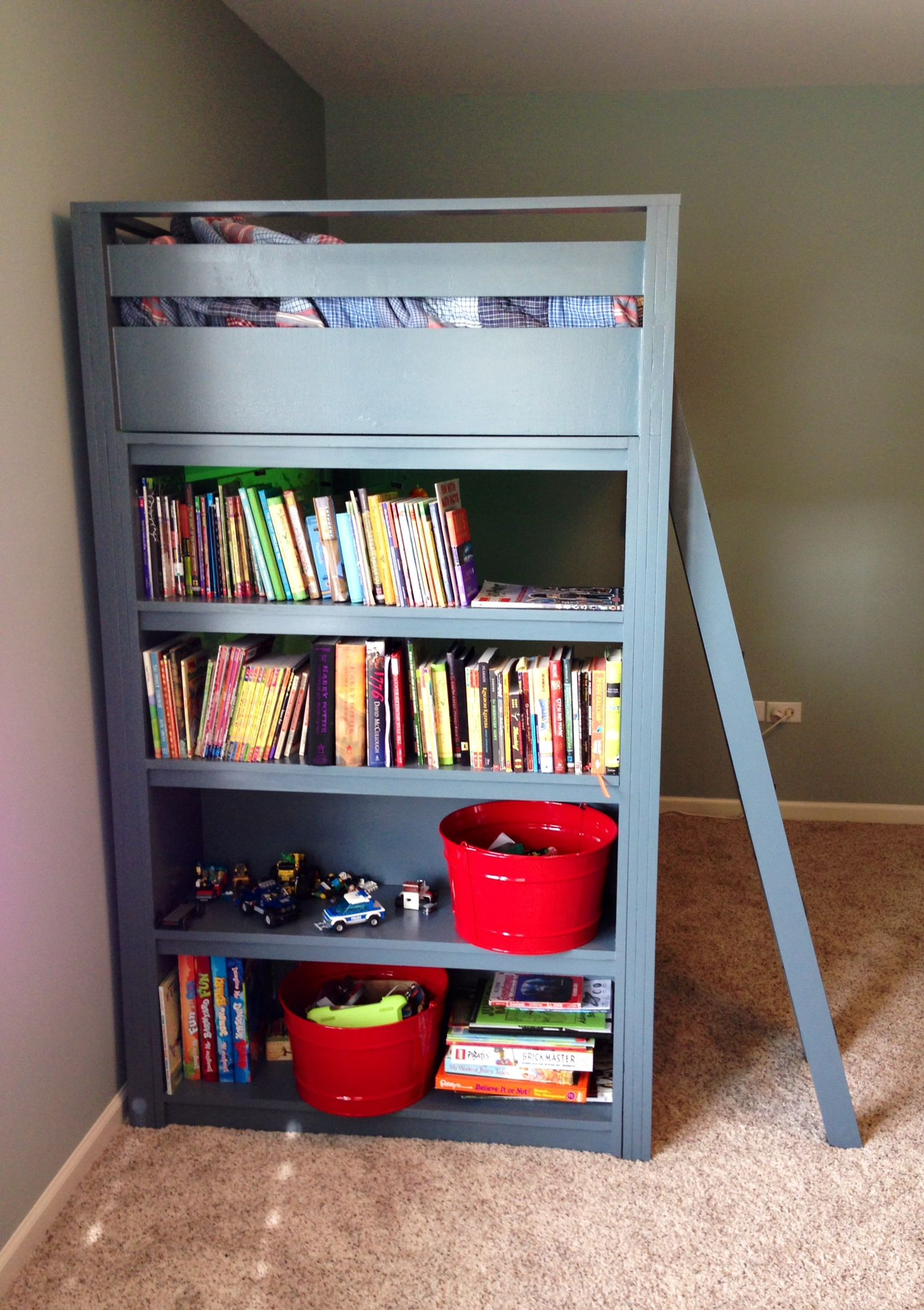 Loft bed, Bed shelves, Shelves