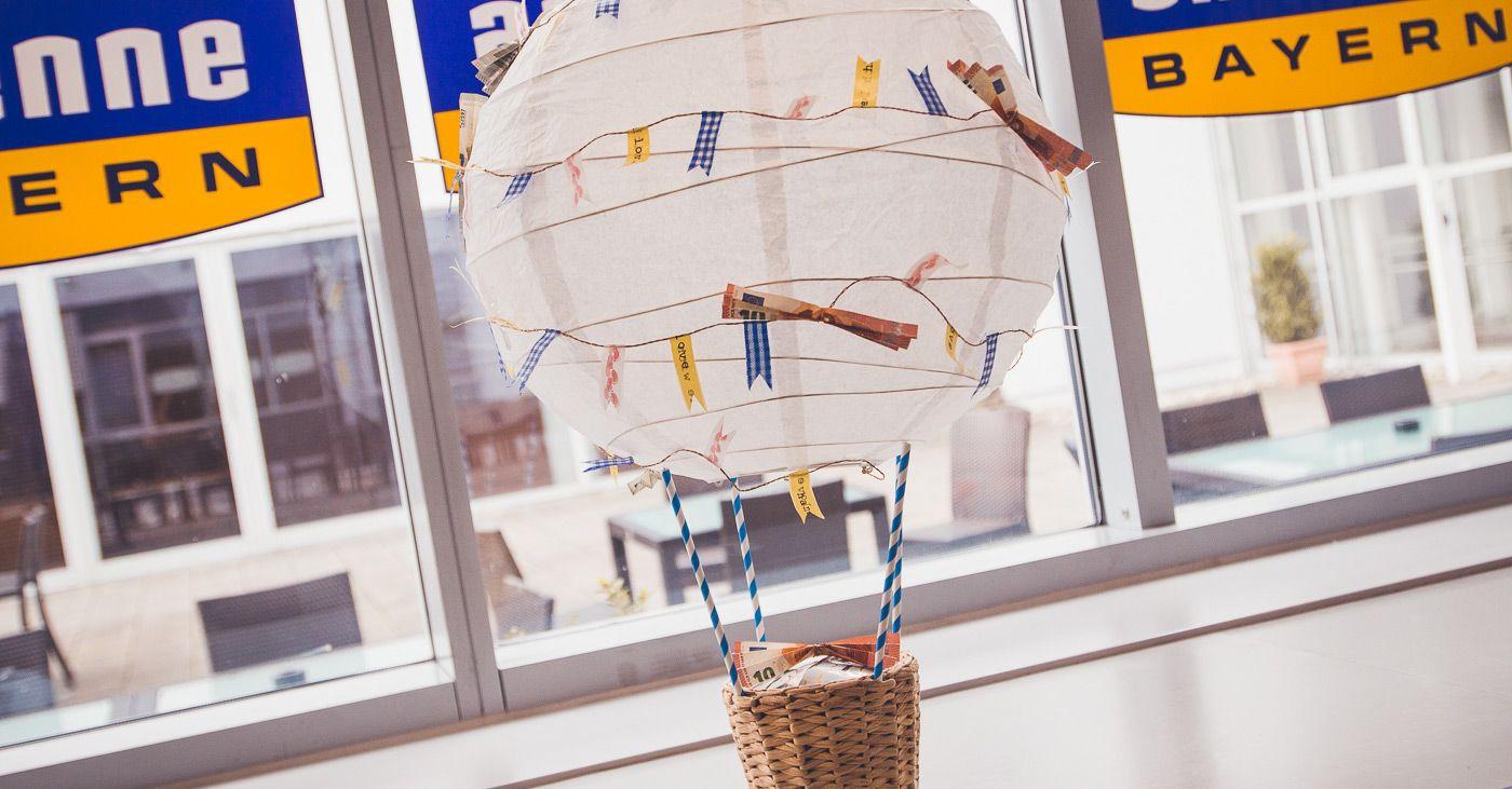 Der Bezaubernde Heissluftballon Ballonfahrt Geschenk Basteln Geschenke Geld Verschenken