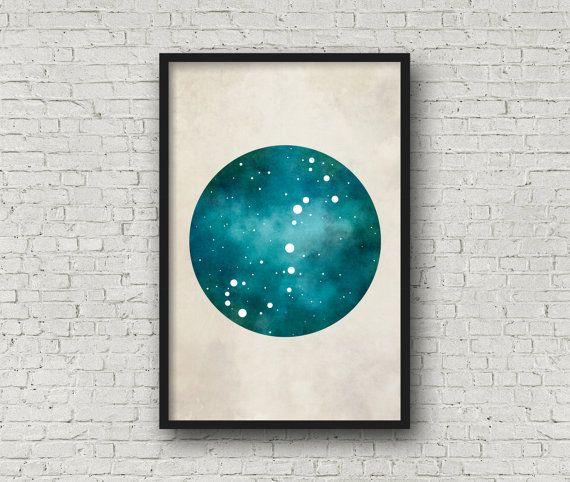 Scorpio Art, Scorpio Zodiac, Zodiac Print, Zodiac Art, Scorpio Constellation, Wall Art Prints, Art Print Poster