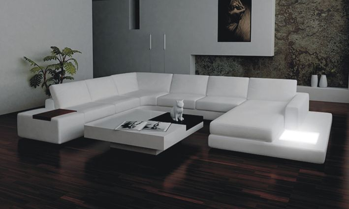 2315 Modern White Leather Sectional Sofa | Leather Sectional Sofas