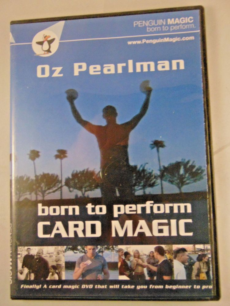 Born to Perform Card Magic Tricks with Oz Pearlman DVD Penguin - what are technical skills