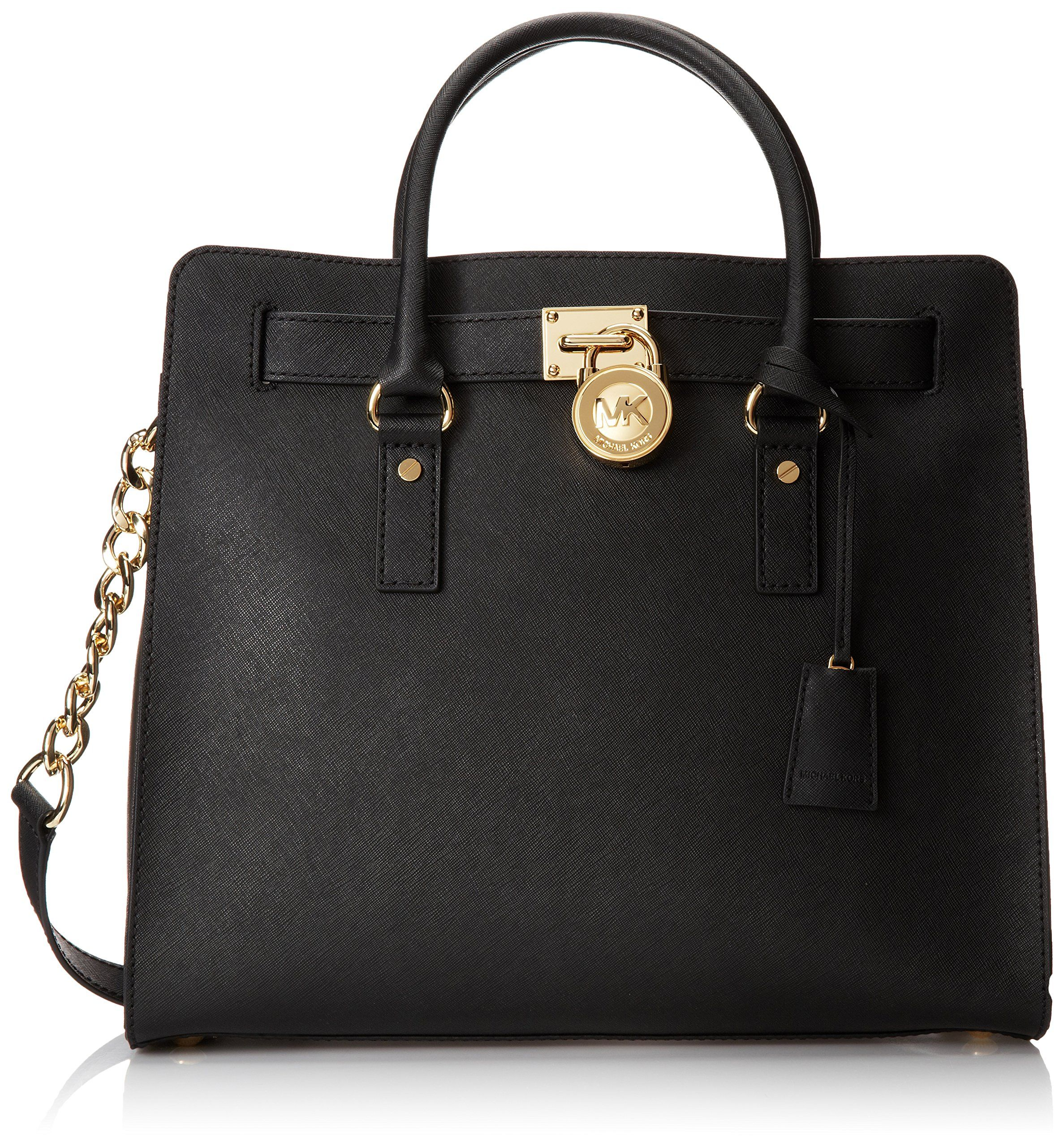 469101c52bcb Michael Kors Hamilton Saffiano Tote Women s Handbag Black  Handbags  Amazon .com
