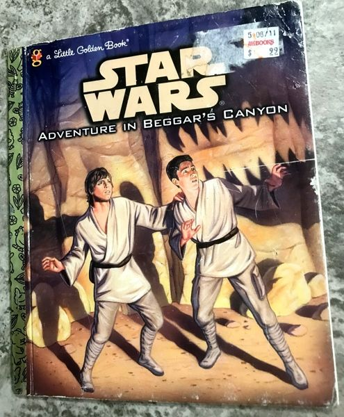 Vintage 1989 Star Wars Adventure In Beggars Canyon Golden Book First