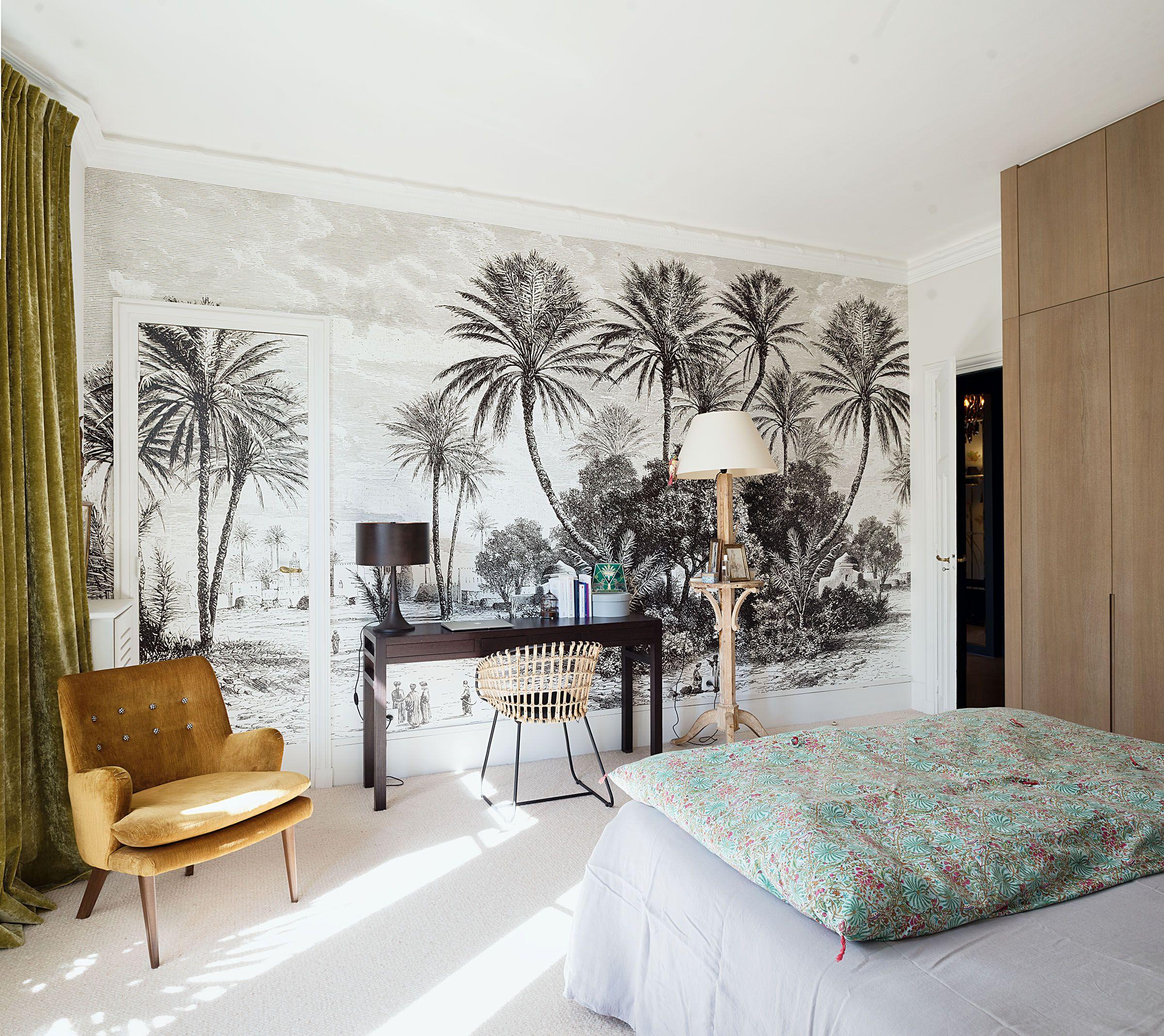 Papier Peint Chambre Mansardée appartement paris 16 | decoration interieur appartement
