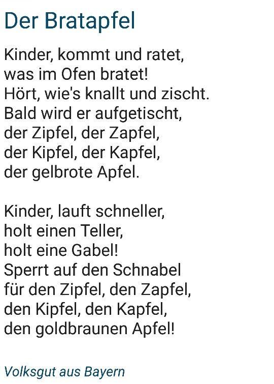 Bayerische gedichte grundschule