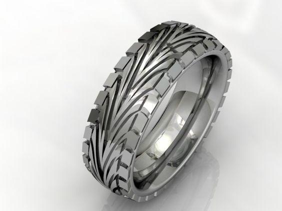 tire tread wedding rings jason charles jewellery - Tire Wedding Rings