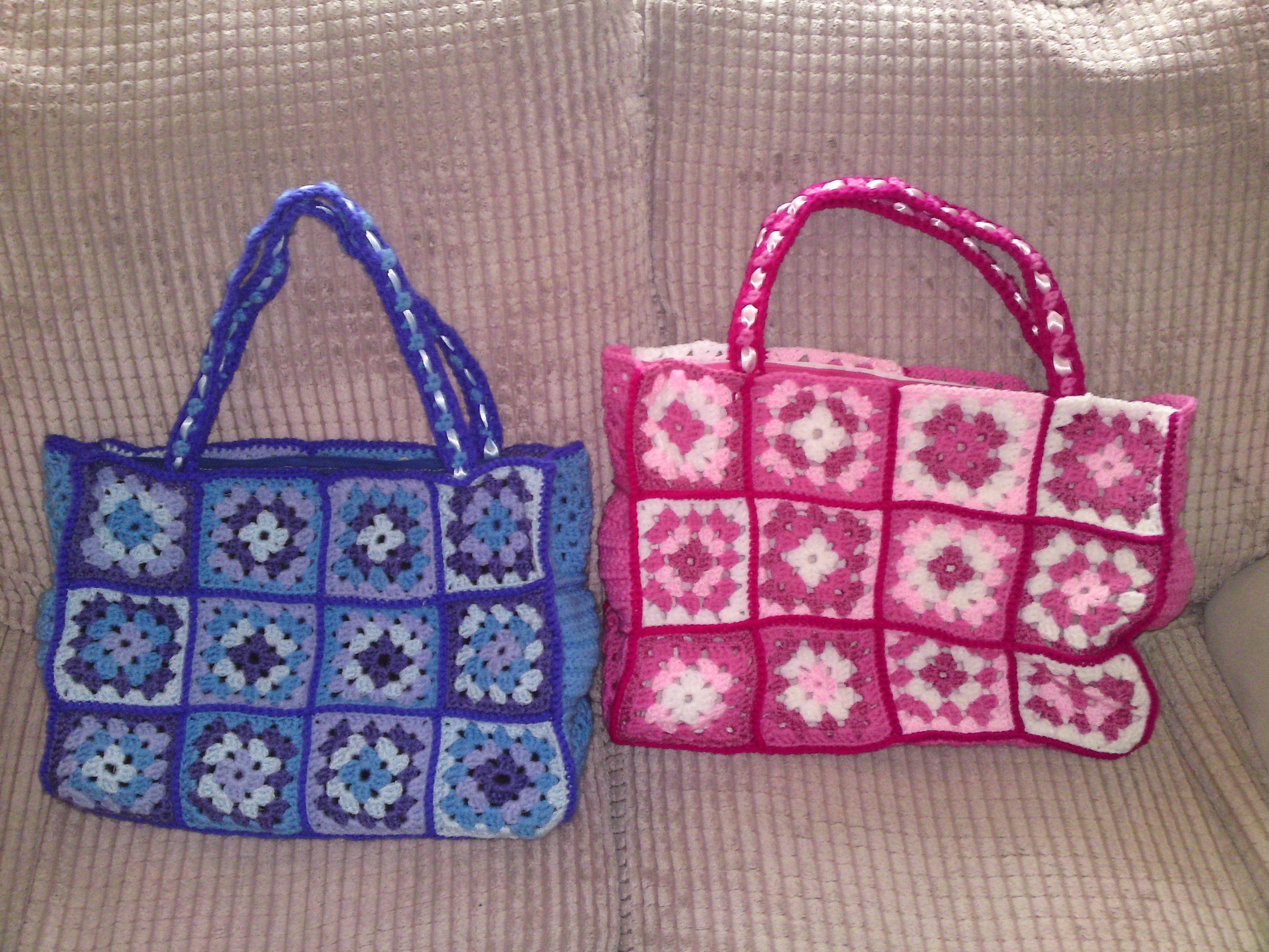 Granny square bags