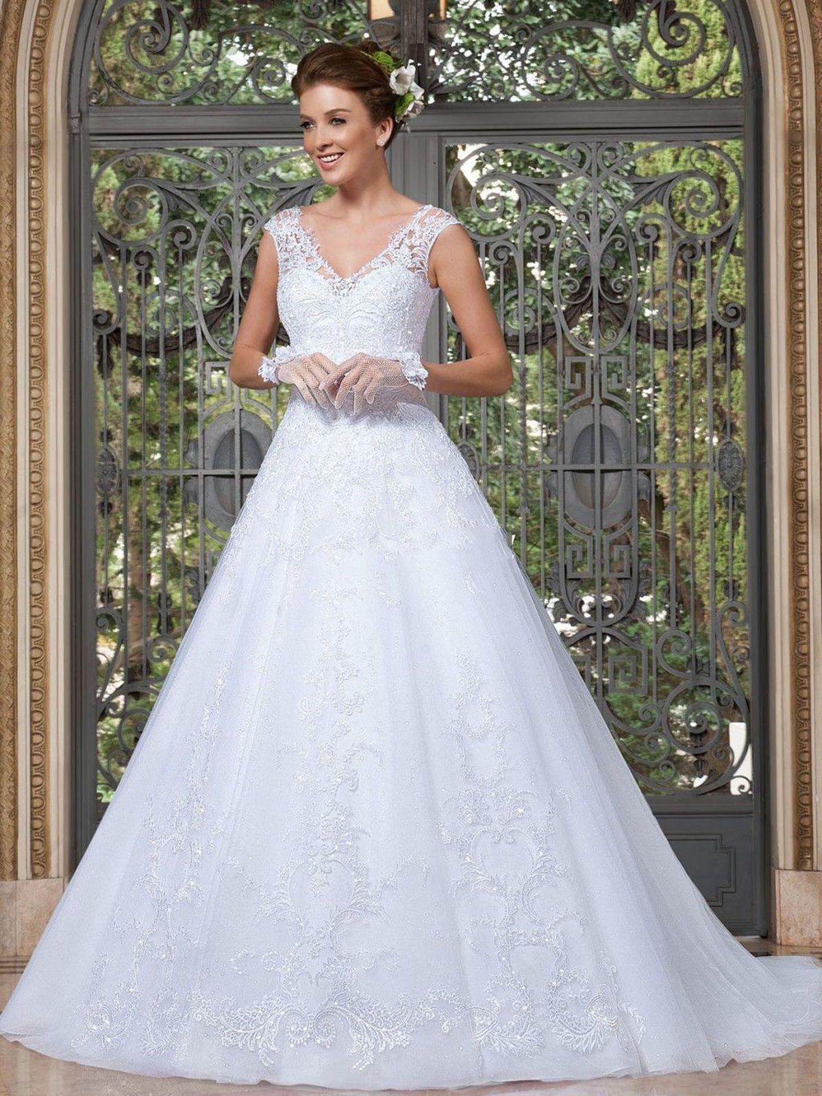 Nice amazing new white ivory wedding dress bridal gown custom size