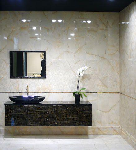 Vanity 01 revestimiento pasta blanca ba o interior 25x73 cm brillo decoraci n ba o - Revestimiento para azulejos ...