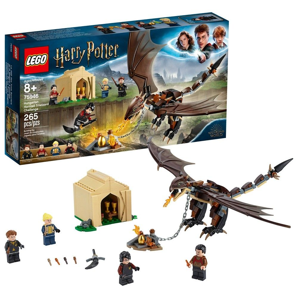 Lego Harry Potter Hungarian Horntail Triwizard Challenge Toy Dragon Building Kit 75946 Harry Potter Lego Sets Harry Potter Toys Harry Potter Gifts
