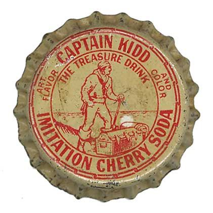 Captain Kidd Imitation Cherry Soda Bottle Cap by Neato Coolville, via Flickr