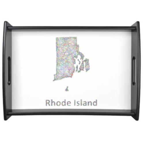 Rhode Island map Serving Tray $66.25
