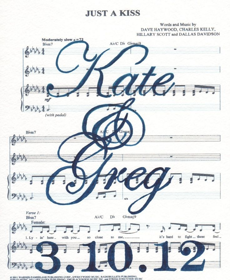 Sheet music art. Superr cute for someone who is getting