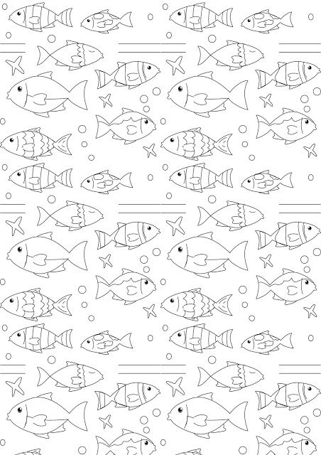 Free printable nautical coloring paper - ausdruckbares Malpapier ...