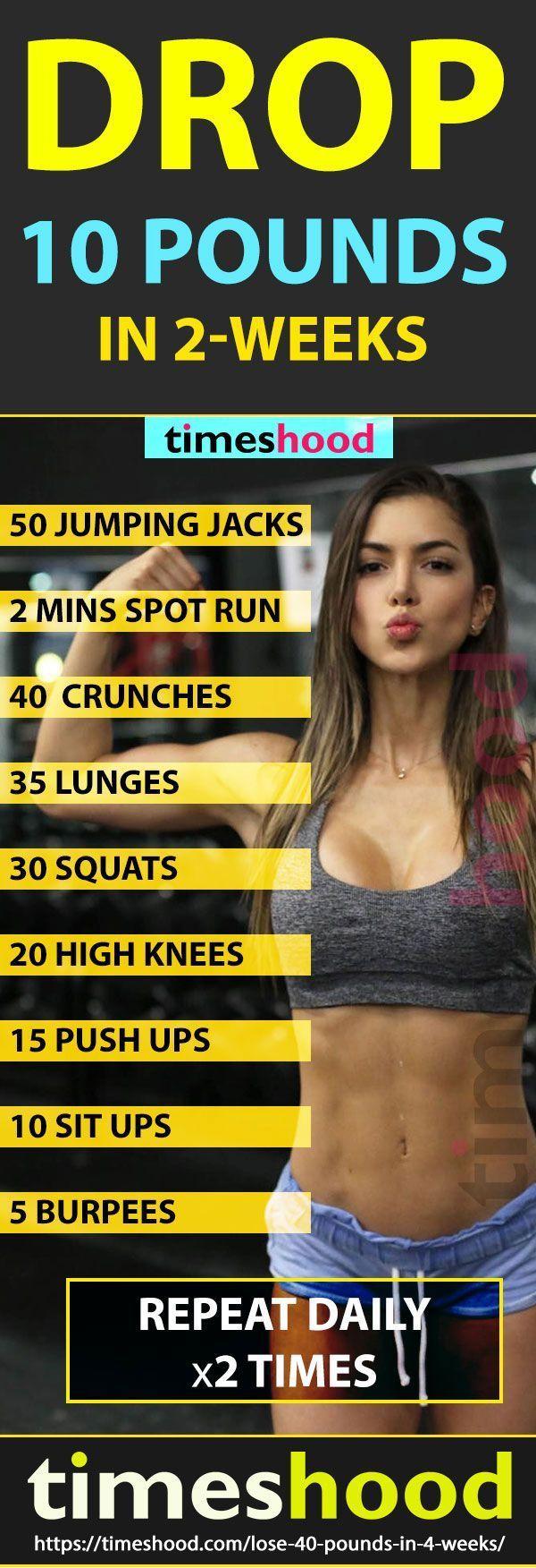 24-Stunden-Plan, um bis zu 40 Pfund in 4 Wochen zu verlieren #weighttraining