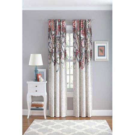 Your Zone Paisley Polyester Curtain Panel