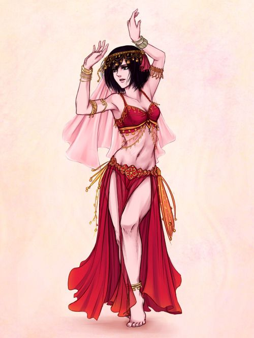 """Anime Characters Dancing : Daydream """" sooo belly dancing mikasa for my very"""