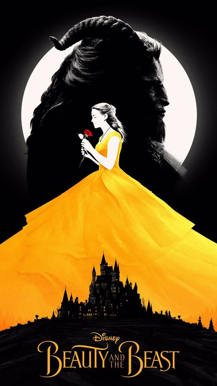 beauty and the beast minimalist poster disney magical